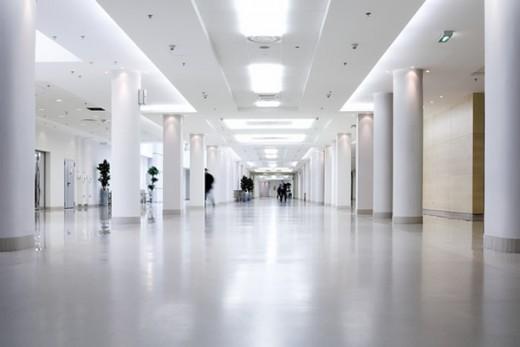 Home - Polished white concrete