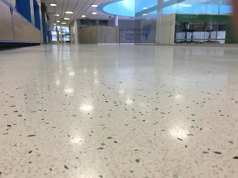 Landås school – Bergen - Interior terrazzo floor
