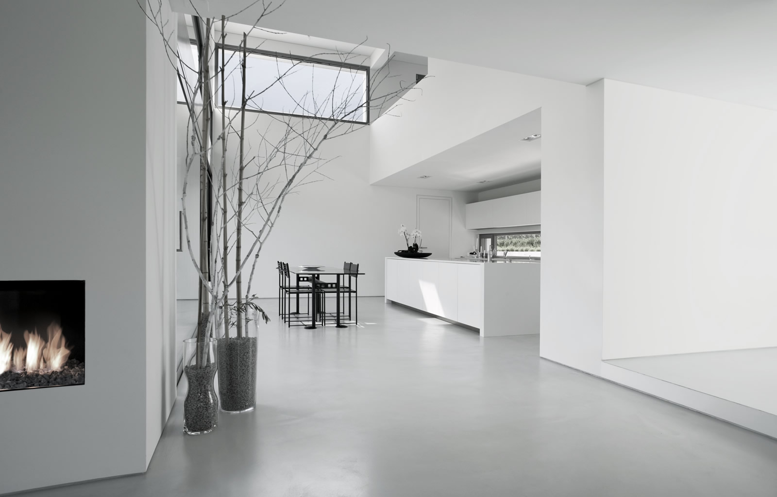 Home - Smooth white floor surface