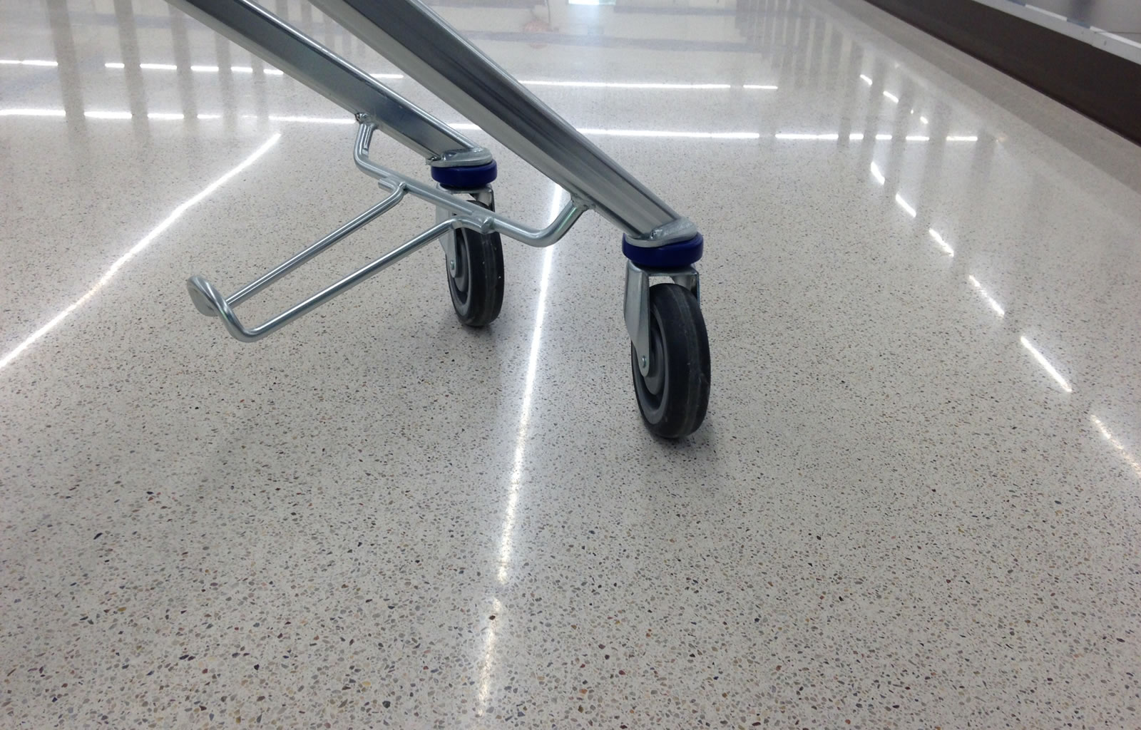 Lidl supermarket in Warszawa - Jointless Terrazzo floor