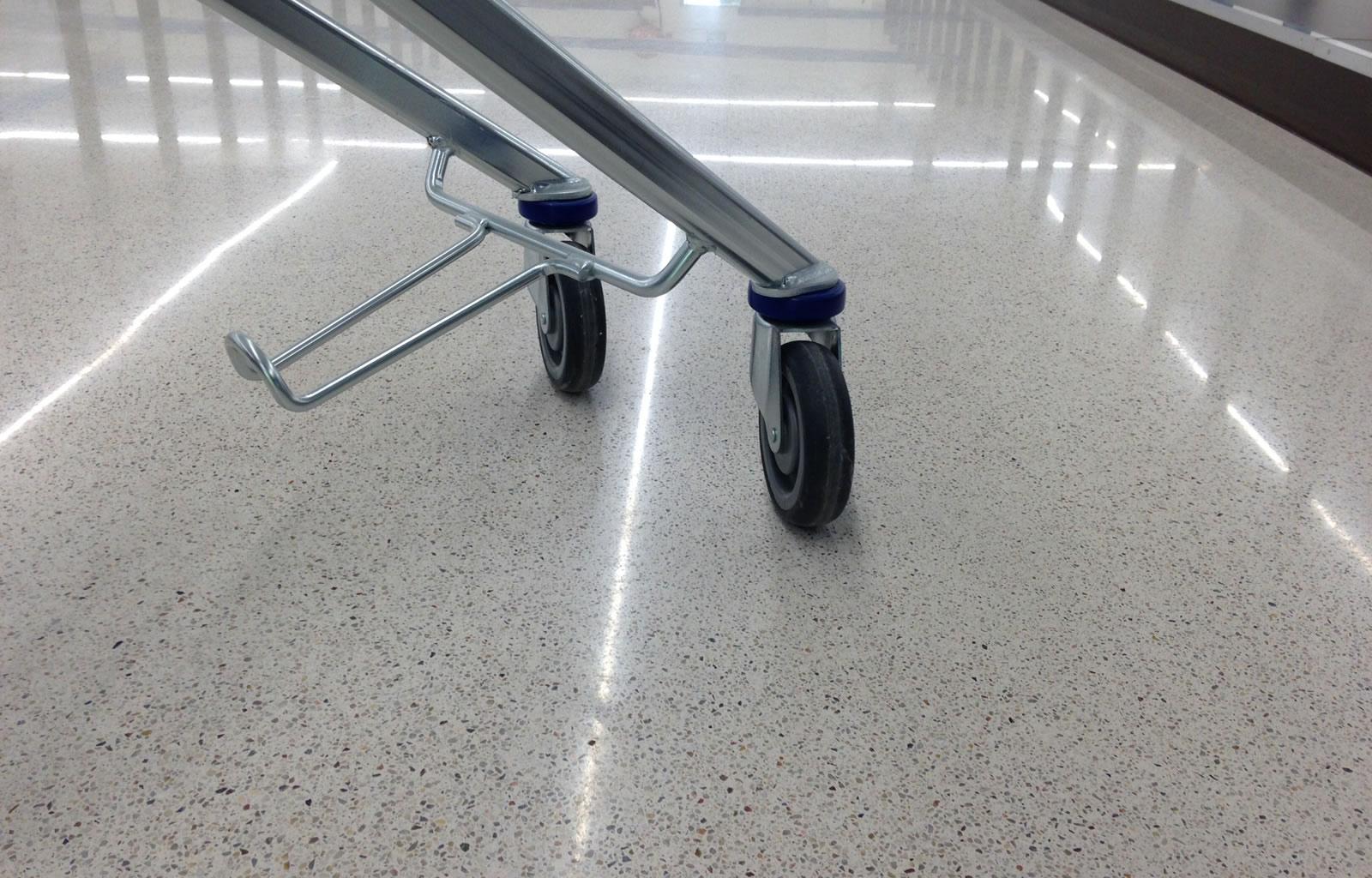 Lidl supermarket in Warszawa - Jointless Terrazzo floor