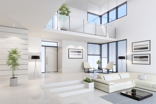 Home - White floor in Penthouse