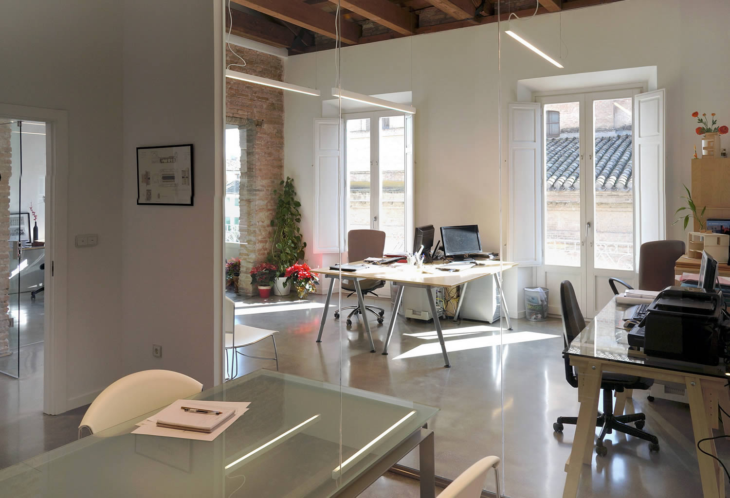 Architect S Home And Study White Concrete Floors