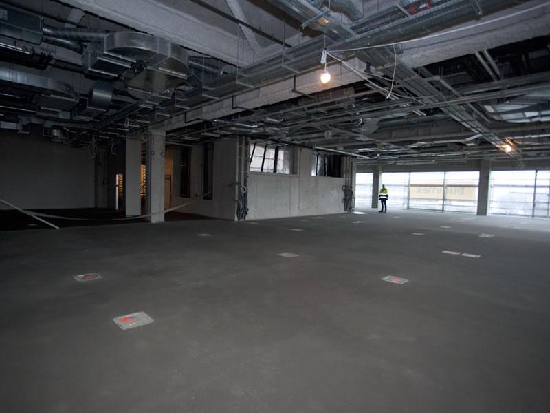 Congress Center in Krakow - Floor under construction
