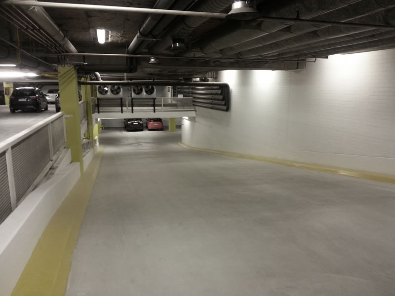Underground car park - New improved ramp