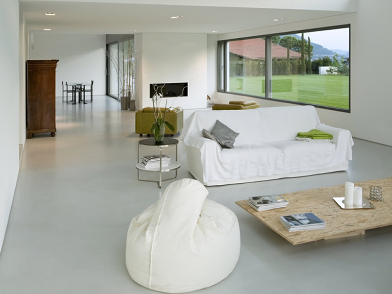 Private home - White Concrete Floors