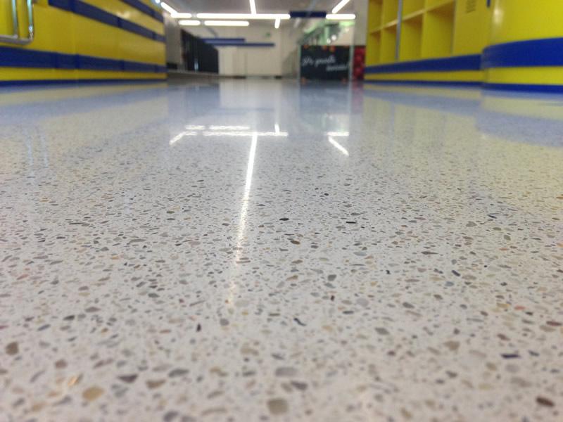 Lidl Warszawa - Jointless terrazzo floor.