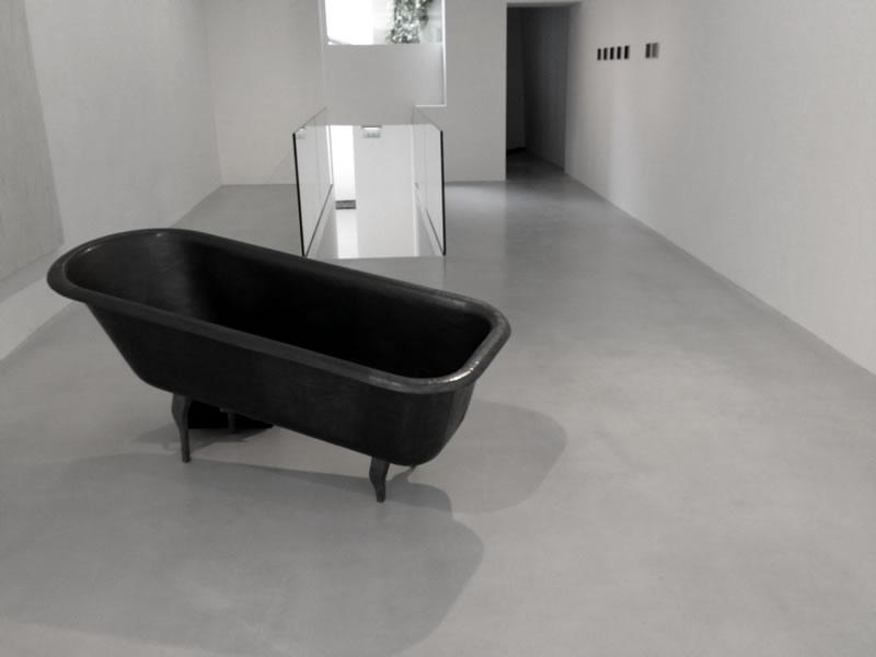 Mennour Kamel  – New Gallery Opening - Self leveling overlay floor.